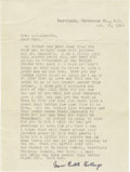 """Autographs:Celebrities, Grace Bedell Autographed Typed Copy of Her Letter to Lincoln,signed """"Grace Bedell Billings"""", one page, 6"""" x 8"""", ca.193... (Total: 3 )"""