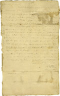 Autographs:Military Figures, 1777 Autograph Letter Signed to General Hand with a variety of war content, including raising additional troops for the fron...