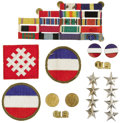 """Military & Patriotic:WWII, General Jacob """"Jake"""" Devers' Insignia and Ribbons. American army general and commander of army forces in North Africa, also ..."""