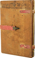 "Autographs:Non-American, [Christopher Columbus] Circa 1500 Italian Family Journal.Manuscript, 62 pages, 6.5"" x 9.25"", Siena-Grosseto. A stunningari..."