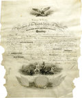 """Autographs:U.S. Presidents, William McKinley Signed Naval Commission, one page, partiallyprinted, on vellum, 15.5"""" x 19.5"""", Washington, D.C., April 13,..."""