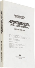 Books:First Editions, William Gibson Uncorrected Proof: Neuromancer. (New York:Ace Science Fiction Books, 1984), uncorrected proof of the tru...