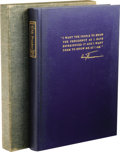 """Books:Signed Editions, Harry S. Truman Twice Inscribed Book Mr. President. (NewYork: Farrar, Straus and Young, 1952), 8vo (8.25"""" x 11.25""""), bl..."""