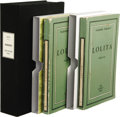Books:First Editions, Vladimir Nabokov: Lolita. (Paris: Olympia Press, 1955),first issue in two volumes, 900 franc price on rear coverof...