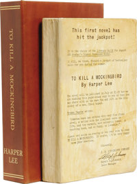 Rare To Kill A Mockingbird Advance Reading Copy With Harper Lee Autograph Note Signed. An extremely rare advance reading...
