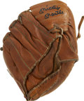 "Autographs:Letters, Mickey Mantle Signed Glove. The Mickey Mantle model youth glove hasbeen signed by the ""The Mick"" himself on the outside of..."