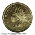 Proof Indian Cents: , 1863 1C PR66 PCGS. The 1863 has a low mintage of only 460 ...