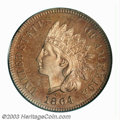 Proof Indian Cents: , 1864 1C L On Ribbon PR64 Red PCGS. The 1864-L in proof ...
