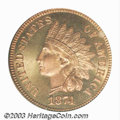 Proof Indian Cents: , 1874 1C PR66 Red Cameo PCGS. The proof 1874 was produced ...
