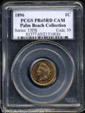 Proof Indian Cents, 1896 1C PR65 Red Cameo PCGS. Less discerning collectors ...