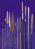 Paleolithic Artifacts:Stone Tools, ASSORTMENT OF 12 AFRICAN SPEARS. ... (Total: 12 Items)