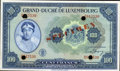 Luxembourg, Luxembourg: Allied Occupation Specimen 100 Francs (1944),...