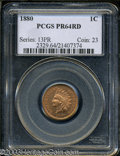 Proof Indian Cents: , 1880 1C PR64 Red PCGS. Deep cherry red color is seen over ...