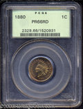 Proof Indian Cents: , 1880 1C PR66 Red PCGS. Fully struck with beautiful, ...