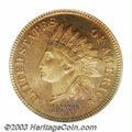 Proof Indian Cents: , 1880 1C PR67 Red PCGS. A remarkable example with stunning,...