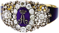 Important Tsar Alexander I Diamond and Enamel Imperial Presentation Bracelet St. Petersburg, early 19th century, unmarke...
