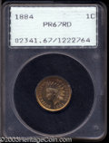 Proof Indian Cents: , 1884 1C PR67 Red PCGS. An utterly Superb proof Indian ...