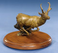 Zoology:Taxidermy, PRONGHORN ANTELOPE BRONZE. ...
