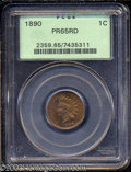 Proof Indian Cents: , 1890 1C PR65 Red PCGS. Well struck with rich color and ...