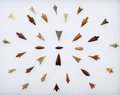 Paleolithic Artifacts:Arrowheads & Paleo Points, COLLECTION OF FINE NEOLITHIC GEM POINTS. ...