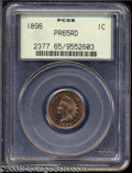 Proof Indian Cents: , 1896 1C PR65 Red PCGS. Fully struck and well preserved, ...