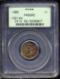 Proof Indian Cents: , 1909 1C PR66 Red PCGS. Fully struck with fiery red and ...