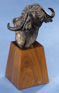 Natural History Art:Sculptures, CAPE BUFFALO BRONZE BUST. ...