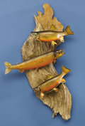 Zoology:Taxidermy, THREE BROOK TROUT MOUNTS. ... (Total: 3 Items)