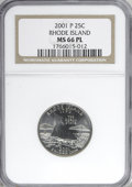 Statehood Quarters: , 2001-P 25C Rhode Island MS66 Prooflike NGC. Numismedia Wsl. Pricefor NGC/PCGS coin in MS66: $16. (#5970)...