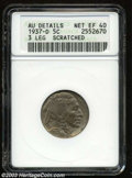 Buffalo Nickels: , 1937-D 5C Three-Legged--Scratched--ANACS. AU Details, Net ...