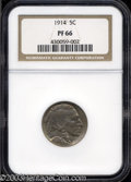 Proof Buffalo Nickels: , 1914 5C PR66 NGC. Otherwise medium-gray in sheen, the ...