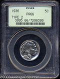 Proof Buffalo Nickels: , 1936 5C Type Two--Brilliant Finish PR66 PCGS. Fully ...