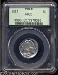 Proof Buffalo Nickels: , 1937 5C PR65 PCGS. A meticulously struck and beautifully ...