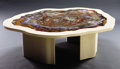 Lapidary Art:Tables / Tabletops, STUNNING PETRIFIED WOOD COFFEE TABLE. ...