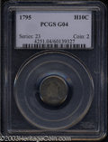 Early Half Dimes: , 1795 H10C Good 4 PCGS. V-4, LM-10, R.3. The first star ...