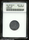 Early Dimes: , 1796 10C --Damaged--ANACS. AG Details, Net Fair 2. JR-1, R....