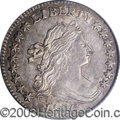 Early Dimes: , 1796 10C AU58 PCGS. JR-3, R.5. A leaf touches the base of ...
