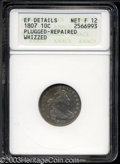 Early Dimes: , 1807 10C --Plugged, Repaired, Whizzed--ANACS. XF Details, ...
