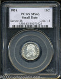 Bust Dimes: , 1828 10C Small Date MS63 PCGS. JR-1, R.2. Just two die ...