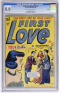 Golden Age (1938-1955):Romance, First Love Illustrated #2 File Copy (Harvey, 1949) CGC VF 8.0 Lighttan to off-white pages....