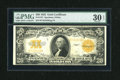 Large Size:Gold Certificates, Fr. 1187 $20 1922 Gold Certificate PMG Very Fine 30 EPQ....