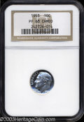 Proof Roosevelt Dimes: , 1953 10C PR68 Cameo NGC. Completely brilliant at first ...