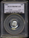 Proof Roosevelt Dimes: , 1962 10C PR69 Deep Cameo PCGS. Fully struck with milky ...