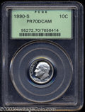 Proof Roosevelt Dimes: , 1990-S 10C PR70 Deep Cameo PCGS. Absolutely flawless, ...