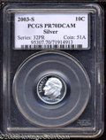 Proof Roosevelt Dimes: , 2003-S 10C Silver PR70 Deep Cameo PCGS. This stone-white ...