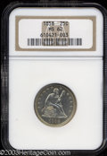 Seated Quarters: , 1858 25C MS62 NGC. Bright and completely untoned with ...