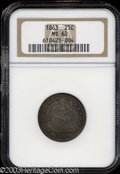Seated Quarters: , 1863 25C MS62 NGC. A scarce Civil War issue that is more ...