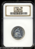 Seated Quarters: , 1879 25C MS64 NGC. A brilliant and semi-prooflike near-...
