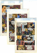 Original Comic Art:Miscellaneous, Mike Dubisch - Crossroads #1-2 Blue Line Color Guide Production Art Group (First, 1988).... (Total: 10 Items)