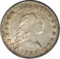 Early Half Dollars, 1795 50C 2 Leaves AU55 PCGS....